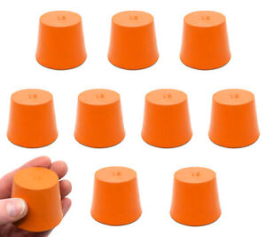 Rubber Stopper Solid Orange 35mm Bottom 28mm Top 36mm Length 10 Pack