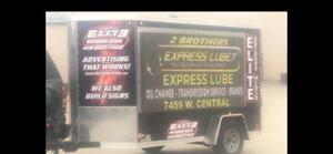 2 Led Outdoor Color Signs Trailer Mounted Ready To Go