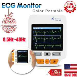 Portable Handheld Ecg Monitor Heal Force 180d Color 50pcs Ecg Electrodes Pads