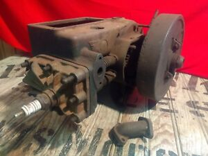 Original Antique Vintage Coldwell Cub Hit Miss Stationary Engine Lawn Mower