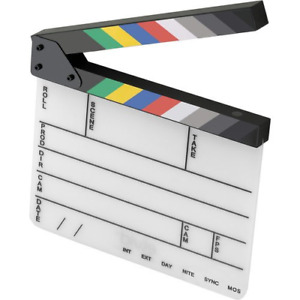 Elvid 9 section Acrylic Dry Erase Production Slate clapboard With Color Sticks