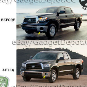 For 2007 2012 2013 Toyota Tundra Clear Front Bumper Fog Lights Lamp Left Right