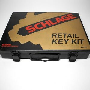 Schlage Retail Key Kit 40 132 Black Metal Box