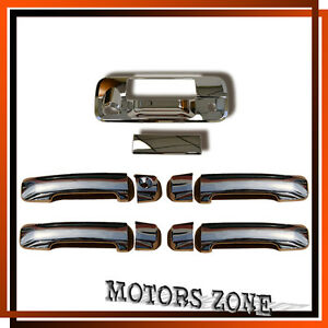 For 07 13 Toyota Tundra Crew Max Chrome Tailgate W Camera 4 Door Handle Covers