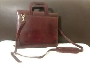 Franklin Covey Classic Planner Handles Shoulder Strap Brown Leather 7 ring Big