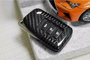 Genuine Carbon Fiber Car Key Case Key Cover Key Shell For Lexus 3 Button