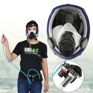 Paint Spraying Welding Supplied Air Fed Respirator System Full Face Gas Mask Am