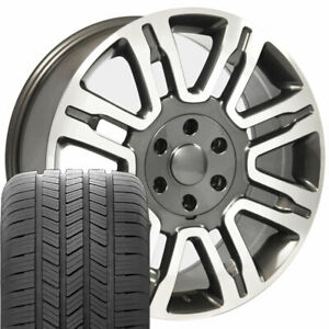 20 Rims Tires Fit Ford F150 Gunmetal Mach d Wheels Gy Tires 3788