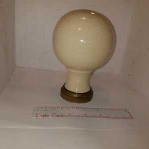 Victorian Stair Post Newel Porcelain Finial 4 D X 6 5 H 2 375 Base