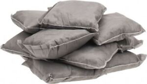 Pro safe 9 Inch Long X 9 Inch Wide X 2 Inch High Gray Sorbent Pillow 15 Gall