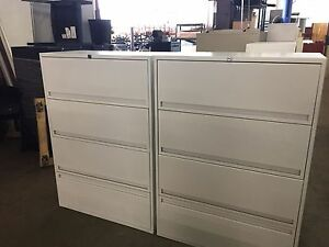 Lot Of 2 4 drawer Lateral Size File Cabinets By Storwal International W lock