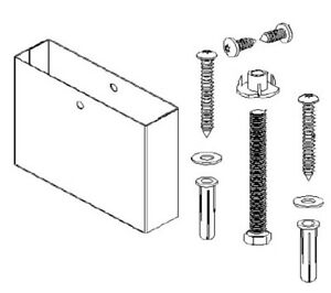 Floor Mounted Over Head Braced Pilaster Shoe Mounting Kit 5 Hdwt s0526 05