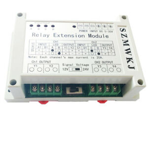 5 30v 2 Channel 4 Way Relay Extension Module 40a Relay Controller For Dc Motors