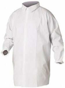 Kleenguard Size Xl White Lab Coat Without Pockets Microporous Film Laminate