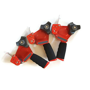 3m Scotch 2 Hand Held Industrial Tape Gun Dispenser Red Black Packing Moving