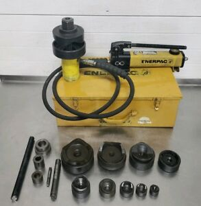 Enerpac Hydraulic Knockout Punch Punches Ch12 m Ph 20 1 2 4 Greenlee