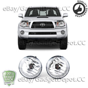 For 2005 2010 2011 Toyota Tacoma Clear Lens Front Fog Lights Lamp Pair