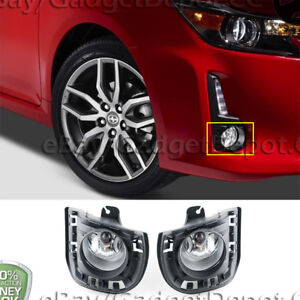 For 2014 2015 2016 Scion Tc Front Bumper Clear Lens Fog Lights Fog Lamp Pair