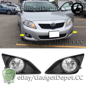 For 2008 2009 2010 Toyota Corolla Clear Fog Lamp Light Front Bumper