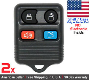 2x New Replacement Keyless Remote Key Fob For Ford Lincoln Mercury Shell Only
