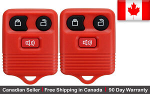 2x New Replacement Keyless Entry Red Remote Key Fob For Ford Lincoln Mazda