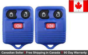 2x New Replacement Keyless Entry Blue Remote Key Fob For Ford Lincoln Mazda