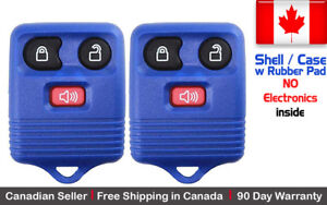 2x New Replacement Keyless Entry Blue Remote Key Fob For Ford Shell Case