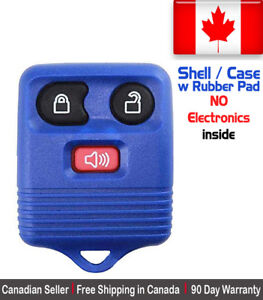 1x New Replacement Keyless Entry Blue Remote Key Fob For Ford Shell Case