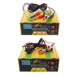 12v 24v Auto Motorcycle Car Truck Battery Charger Pulse Repair Lead Acid Starter