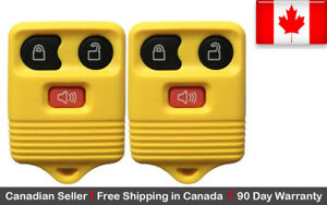 2 New Replacement Keyless Entry Yellow Remote Key Fob For Ford Lincoln Mazda