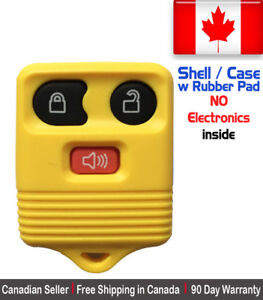 1x New Replacement Keyless Entry Yellow Remote Key Fob For Ford Shell Case
