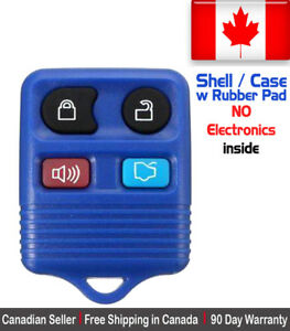 1 New Replacement Keyless Entry Blue Remote Control Key Fob For Ford Shell Case