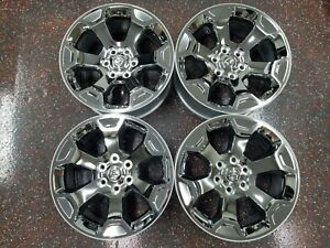 2019 Dodge Ram 1500 Oem 20 Inch Chrome Clad Factory Wheels W Centercaps 6x5 5