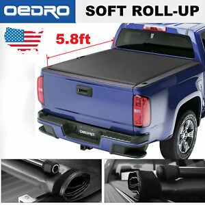 Oedro Roll Up Truck Bed Tonneau Cover 5 8 Fit For 2014 2018 Chevy Silverado Gmc