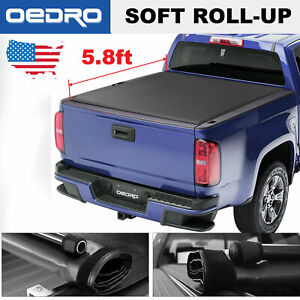 Soft Roll Up Tonneau Cover 5 8 Bed For 2014 2019 Chevy Silverado Gmc Sierra
