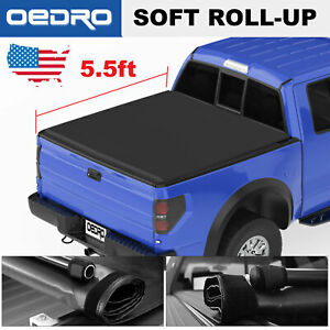 Taoautoparts Tonneau Cover For 09 14 Ford F 150 5 5ft Truck Bed Soft Roll up