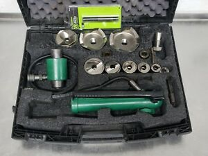 Greenlee 1 2 4 Metal Punch Stainless Steel Knockout Dies Punches 7310 sb
