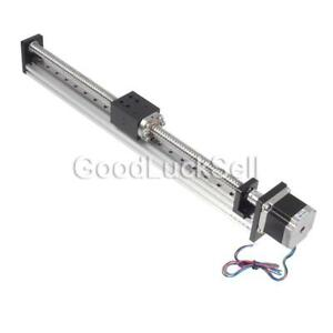400mm Threaded Rod Linear Guide Rail With Motor Ball Screw F Cnc Linear Actuator