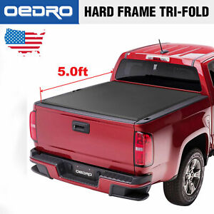 Oedro Tri fold Truck Bed Tonneau Cover For 2015 2019 Chevy Colorado gmc Canyon