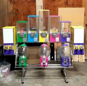 Northwestern 10 Stand Gumball Toy Prize Sticker Tattoo Bulk Vending Machine Rack