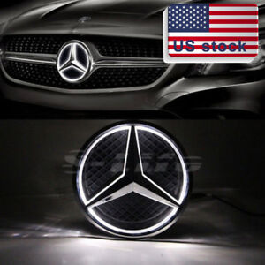 Illuminated 2013 2016 Car Motors Led Grille Logo Emblem Lights For Mercedes Benz