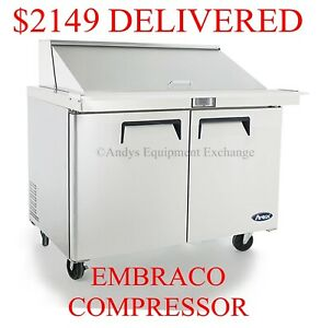 48 4 Foot Wide Commercial Restaurant Megatop Sandwich Salad Prep Table Nsf
