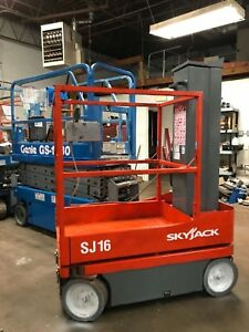 Skyjack Sj16 Awp Man Lift Scissor Lift New Batteries 2013 Model Year Low Hours