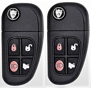 2 Jaguar X type S type Xj series 2000 2009 Remote Flip Key Top Quality Usa