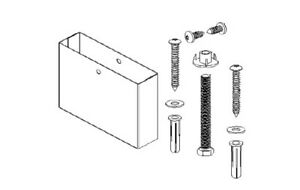 Floor Mounted Over Head Braced Pilaster Shoe Mounting Kit 6 Hdwt s0526 06