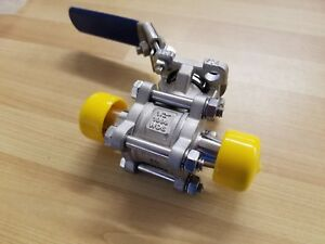 Tru flo 1 2 Stainless Steel Sanitary Ball Valve With Locking Handle 1000 Wog