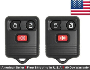 2x Replacement Keyless Entry Remote Control Key Fob For Ford 2l3t 15k601 Ab