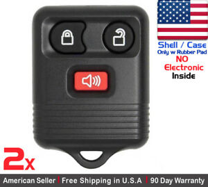 2x New Replacement Keyless Entry Key Fob For Ford 2l3t 15k601 Ab Shell Only