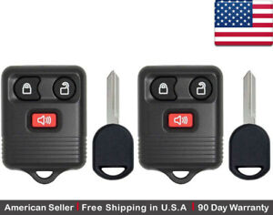 2x New Replacement Keyless Entry Remote Control Key Fob For Ford 2l3t 15k601 ab