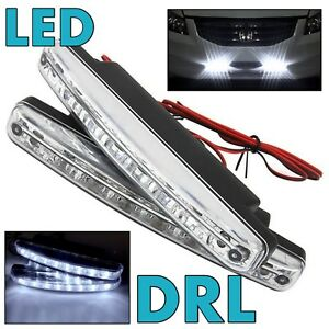White Led Drl Bumper Daytime Running Light Driving Lamp Universal For Toyota